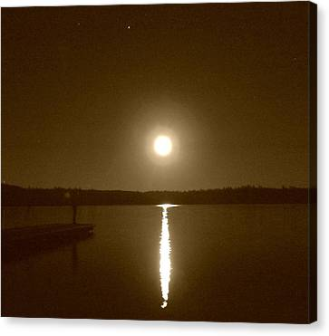 Lonely Moon Rise Canvas Print by Jessica Hatton