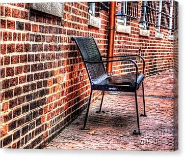 Lonely Seat Canvas Print by Debbi Granruth