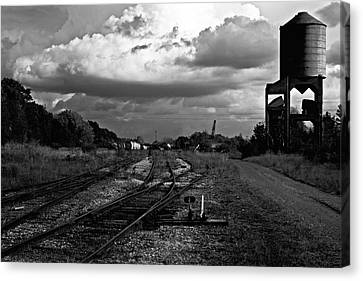 Canvas Print featuring the photograph Lonely Water Tower by Randall  Cogle