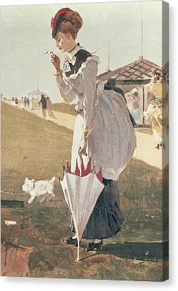 Long Branch Canvas Print by Winslow Homer