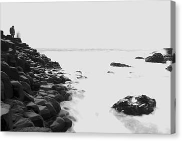 Long Exposure At The Giants Causeway Canvas Print by Christopher Kulfan
