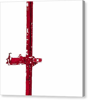 Long Lock In Red Canvas Print by J erik Leiff