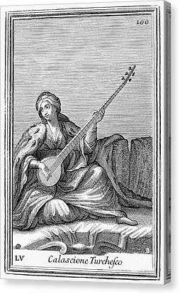 Long Lute, 1723 Canvas Print by Granger