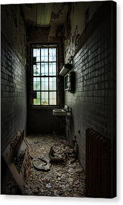 Long Narrow Lavatory Canvas Print by Gary Heller