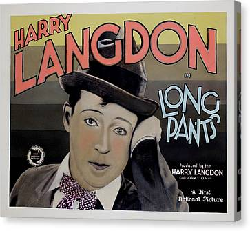 Long Pants, Harry Langdon, 1927 Canvas Print by Everett