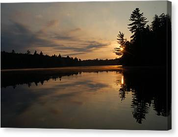 Long Pond Sunset Canvas Print