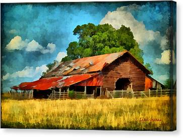 Long Road Barn Canvas Print by Lynne Jenkins