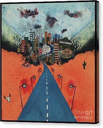 Long Road To Hollywood Canvas Print by Nadene Merkitch