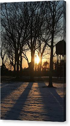 Long Shadows Canvas Print by Peter Chilelli