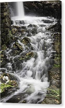Canvas Print featuring the photograph Longfellow Grist Mill Waterfall by Betty Denise