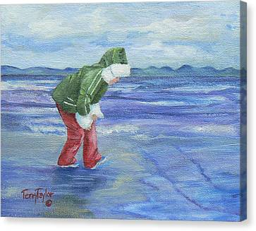 Canvas Print featuring the painting Look At The Reflections by Terry Taylor