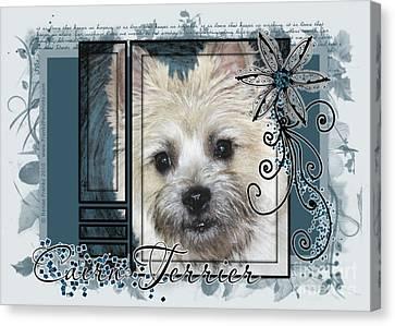 Look In Her Eyes - Cairn Terrier Canvas Print by Renae Laughner