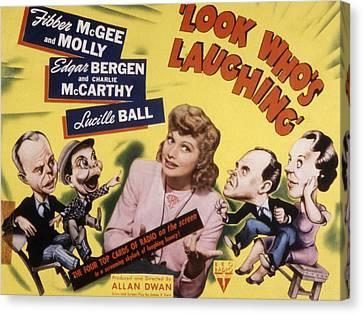 Look Whos Laughing, Edgar Bergen Canvas Print by Everett