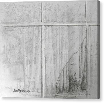 Canvas Print featuring the drawing Lookiing Through by Jim Hubbard