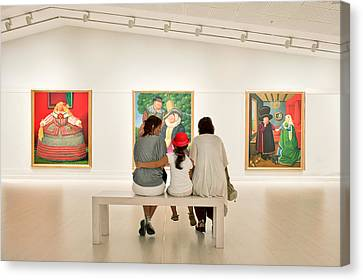 Looking At Art Canvas Print by Salvator Barki