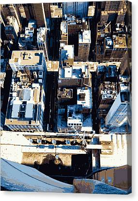 Looking Down Color 16 Canvas Print by Scott Kelley