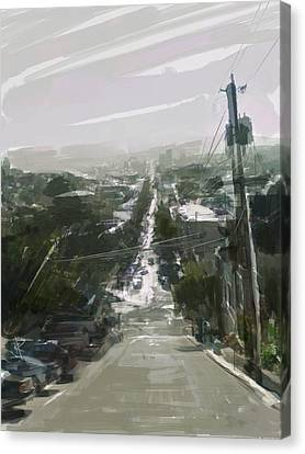 Looking Down Dolores Canvas Print by Russell Pierce