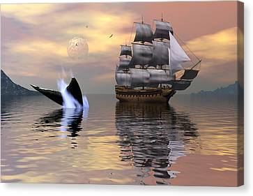 Looking For Moby Dick Canvas Print by Claude McCoy