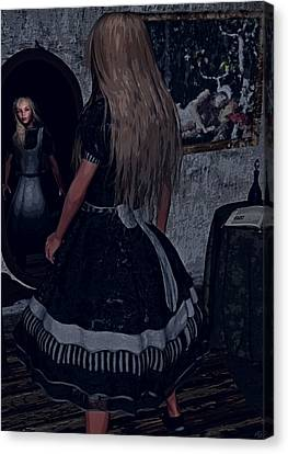 Looking Glass Alice Canvas Print by Maynard Ellis