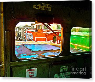 Looking Out The Engine Cab Canvas Print by Chuck Taylor