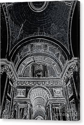 Looking Up. Vatican. Black Canvas Print by Tanya  Searcy