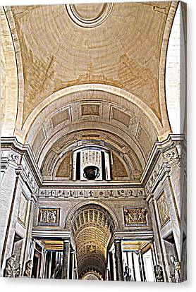 Canvas Print featuring the photograph Looking Up. Vatican. Brown by Tanya  Searcy