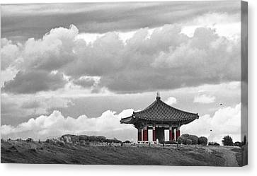 Canvas Print featuring the photograph Looks Like Korea by Kevin Bergen