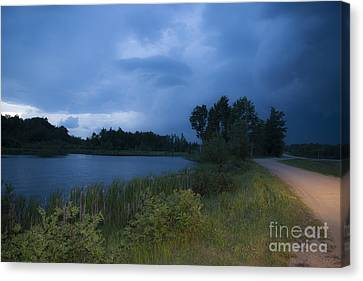 Looming Alberta Storm Canvas Print by Darcy Michaelchuk