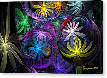 Not In Use Canvas Print - Loonie Flowers by Peggi Wolfe