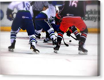 Loose Puck Canvas Print by Karol Livote