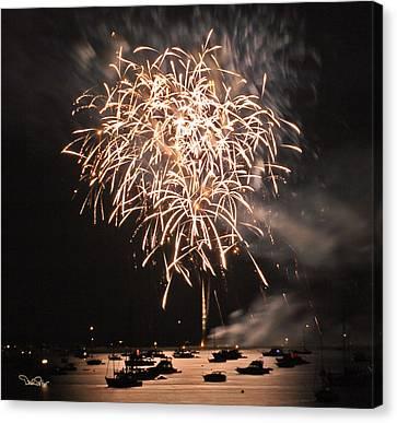 Lopez Island Fireworks 2 Canvas Print by David Salter