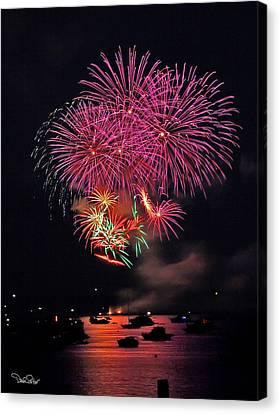 Lopez Island Fireworks 4 Canvas Print by David Salter