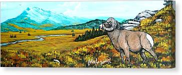 Lord Over The Mountains Canvas Print by Bobbylee Farrier