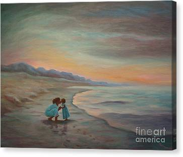 Canvas Print featuring the painting Loren And Jewel by Gretchen Allen