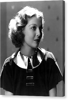 Loretta Young, 1930s Canvas Print by Everett