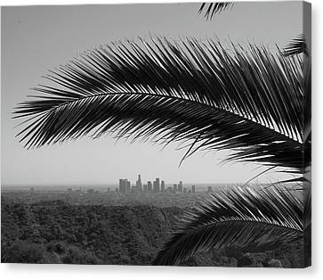Los Angeles Skyline From Hollywood Hills Canvas Print