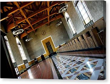Los Angeles Union Station Terminal Canvas Print by Jeff Lowe