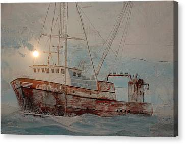 Lost At Sea Canvas Print by Jim Cook