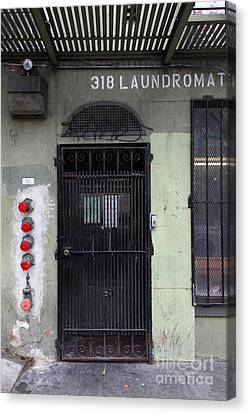 Lost In Urban America - Laundromat - Tenderloin District - San Francisco California - 5d19347 Canvas Print by Wingsdomain Art and Photography