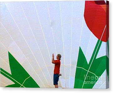 Lost Infront Of The Balloon Canvas Print by Mark Dodd