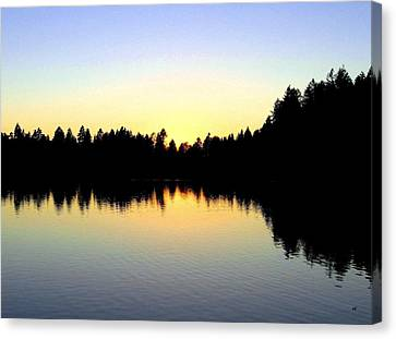 Lost Lagoon Sunset Canvas Print by Will Borden