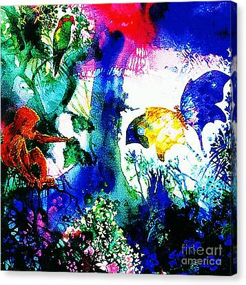 Canvas Print featuring the mixed media Lost Paradise by Hartmut Jager