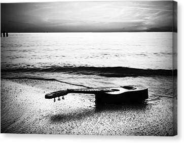 Tampa Canvas Print - Lost Tune - Bw by Nicholas Evans