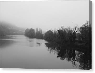 Lot In The Mist Canvas Print