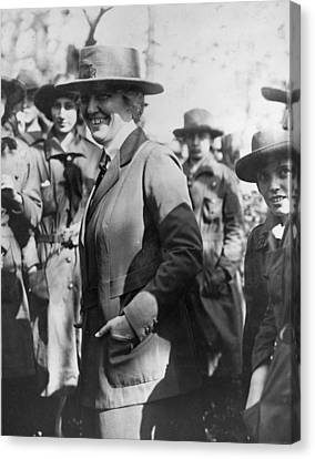 Lou Henry Hoover 1874-1944, First Lady Canvas Print by Everett