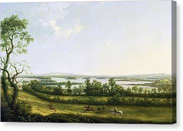 Lough Erne From Knock Ninney - With Bellisle In The Distance Canvas Print