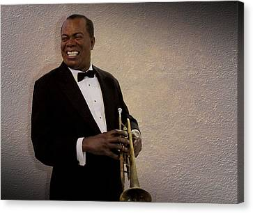 Louis Armstrong Canvas Print by David Dehner