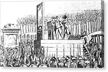 Louis Xvi, Being Led To The Guillotine Canvas Print by Photo Researchers