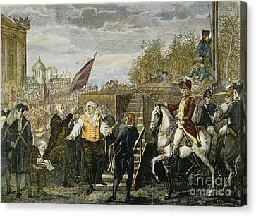 Louis Xvi: Execution, 1793 Canvas Print by Granger