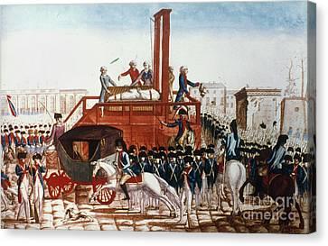 Louis Xvi: Execution Canvas Print by Granger